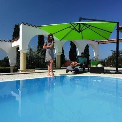 CARAVITA Sonnenschirm Amalfi grün